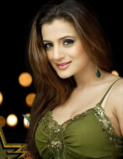 Bollywood actress Ameesha Patel Showing Her Beautiful Cleavage1