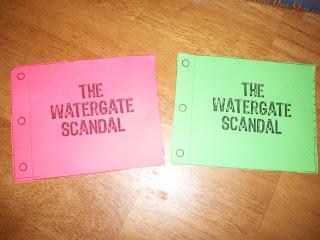 Watergate Scandal - Modern American History Lapbook