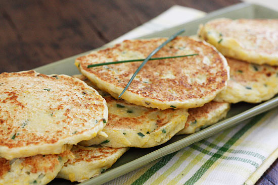 Summer Squash and Chive Pancakes | Skinnytaste