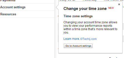 AdSense Time Zone Settings