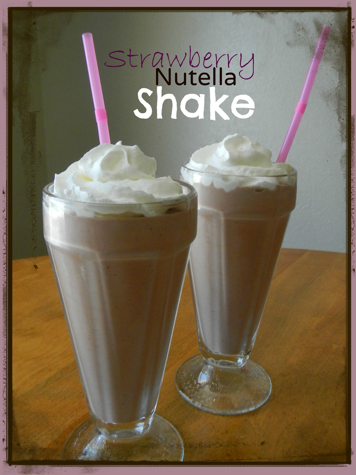 Aubrey's Recipes: Strawberry Nutella Milkshake