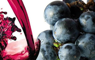 vino rosso ed uva, fonti di resveratrolo
