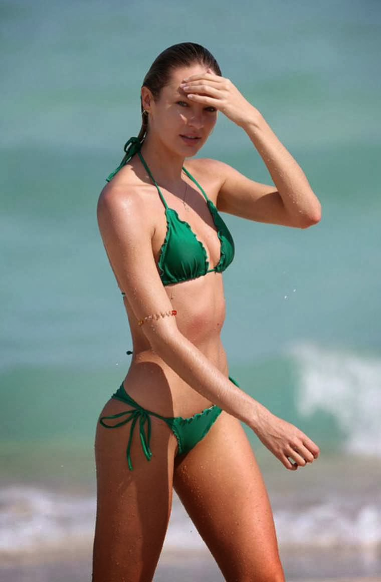 Candice Swanepoel Sexy Ass Thong Bikini Candids On A Beach In Miami