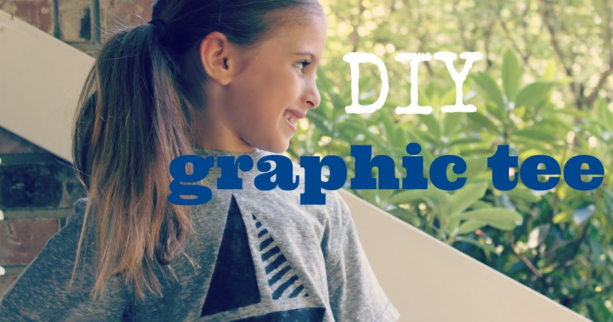 DIY Graphic Tee for Back to School