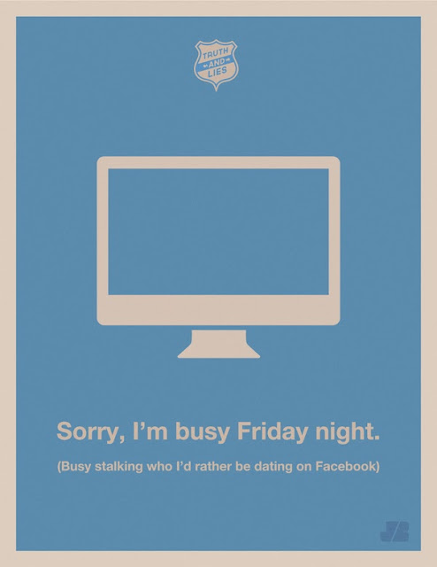 Humorous Truth & Lies Posters