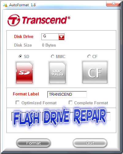 Sd card formatting tool