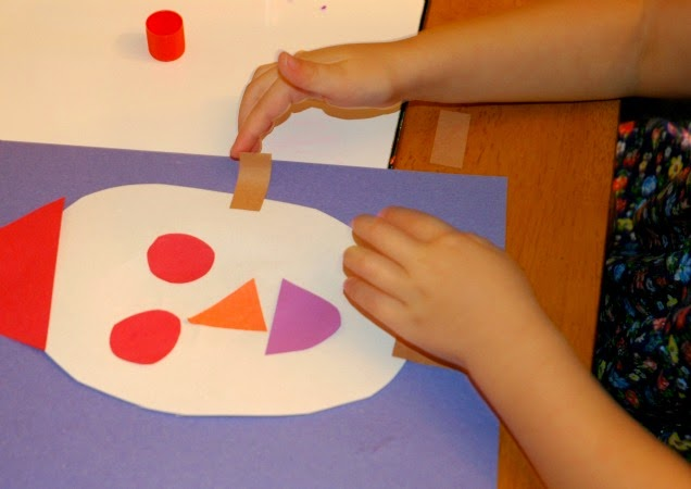Circus craft for teaching shapes and colors to preschoolers