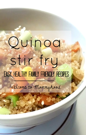Quinoa fried rice by Welcome to Mommyhood #quinoarecipes, #healthymeals, #healthykidsrecipes