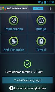 tampilan AVG Antivirus