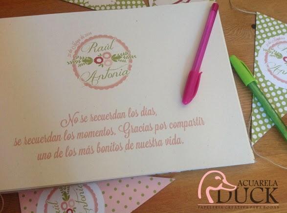 libro recuerdos boda