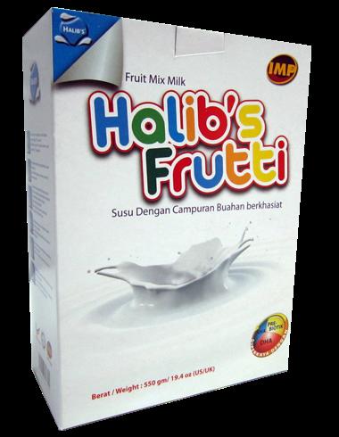 Susu Halib's Frutti - Khasiat buah-buahan kini didalam Halib's
