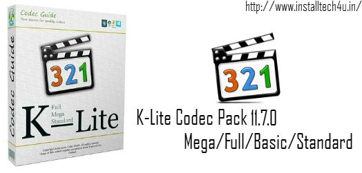 Mirror 1:- K-Lite Codec Pack 11 7 0 Mega Full Basic Standard + Update