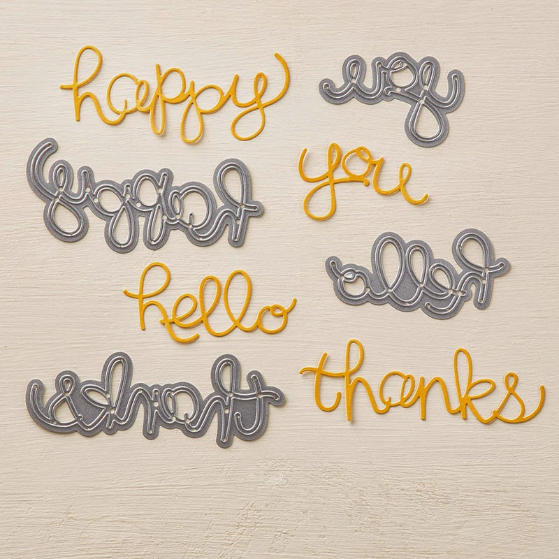 Hello You Thinlet Dies, new in Stampin'UP!'s spring 2015 Occasions Catalog