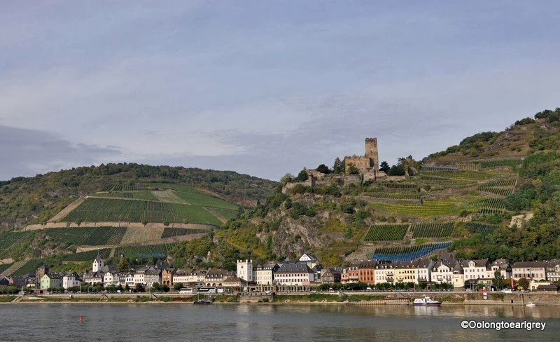 The Rhine River, near Saint Goar, Germany