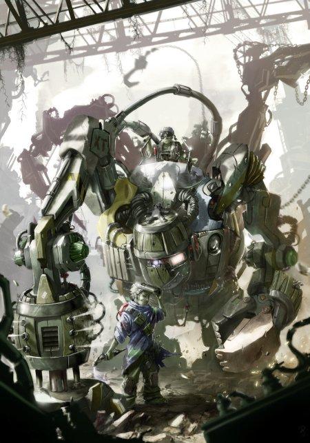 vincent ptitvinc deviantart ilustrações artes conceituais fantasia futurista robôs tecnologia Mecha reciclado