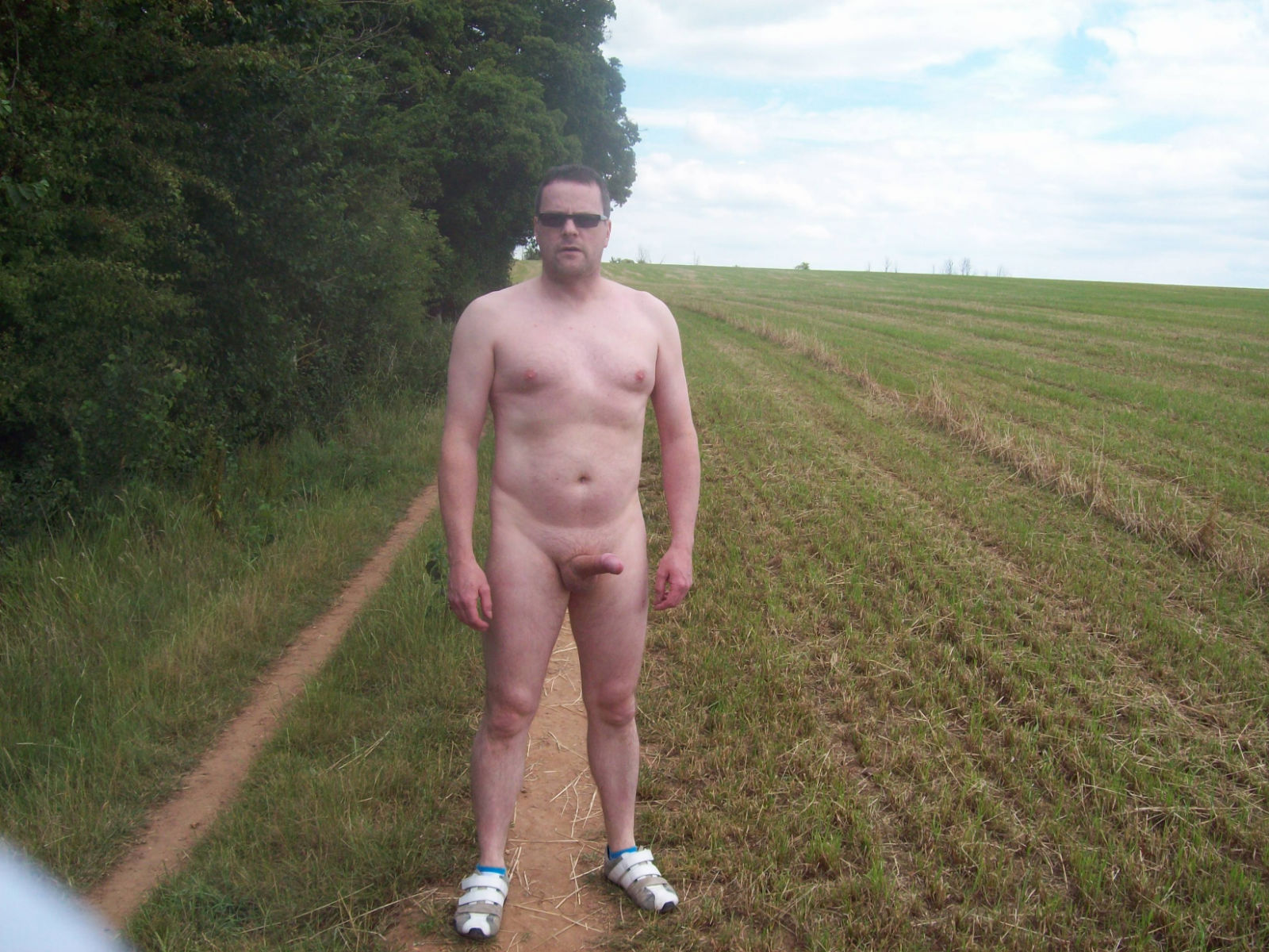 This guy just loves to get naked outside - anywhere anytime! And isn't it  great to see the results of his activities shared with us.