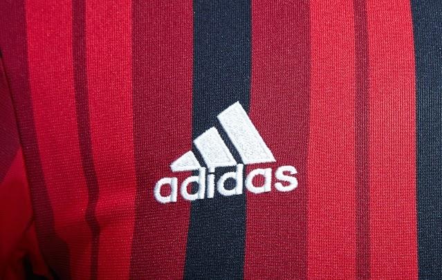 Logo Adidas Pada Jersey Terbaru Ac Milan Home  Official 2014 - 2015