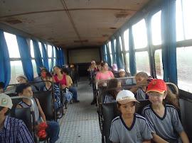 Durante a viagem para usina Caçu para uma aula de campo
