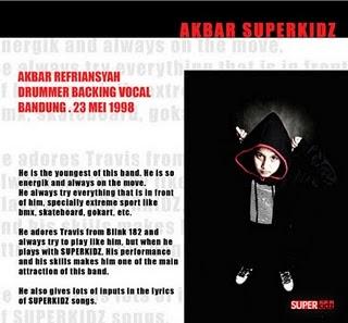 Foto Profil Biodata akbar Superkidz personil anak smp
