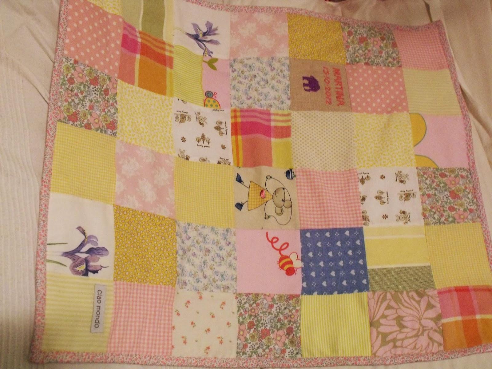 ciao mondo baby coperta giallo rosa bimba