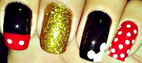 mickey mouse nail design - DIY Mickey Mouse Nail Design - Crafty Morning