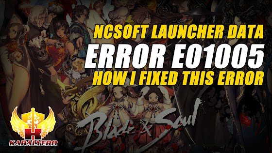 NCSoft Launcher Data Error E01005 ★ How I Fixed This Error