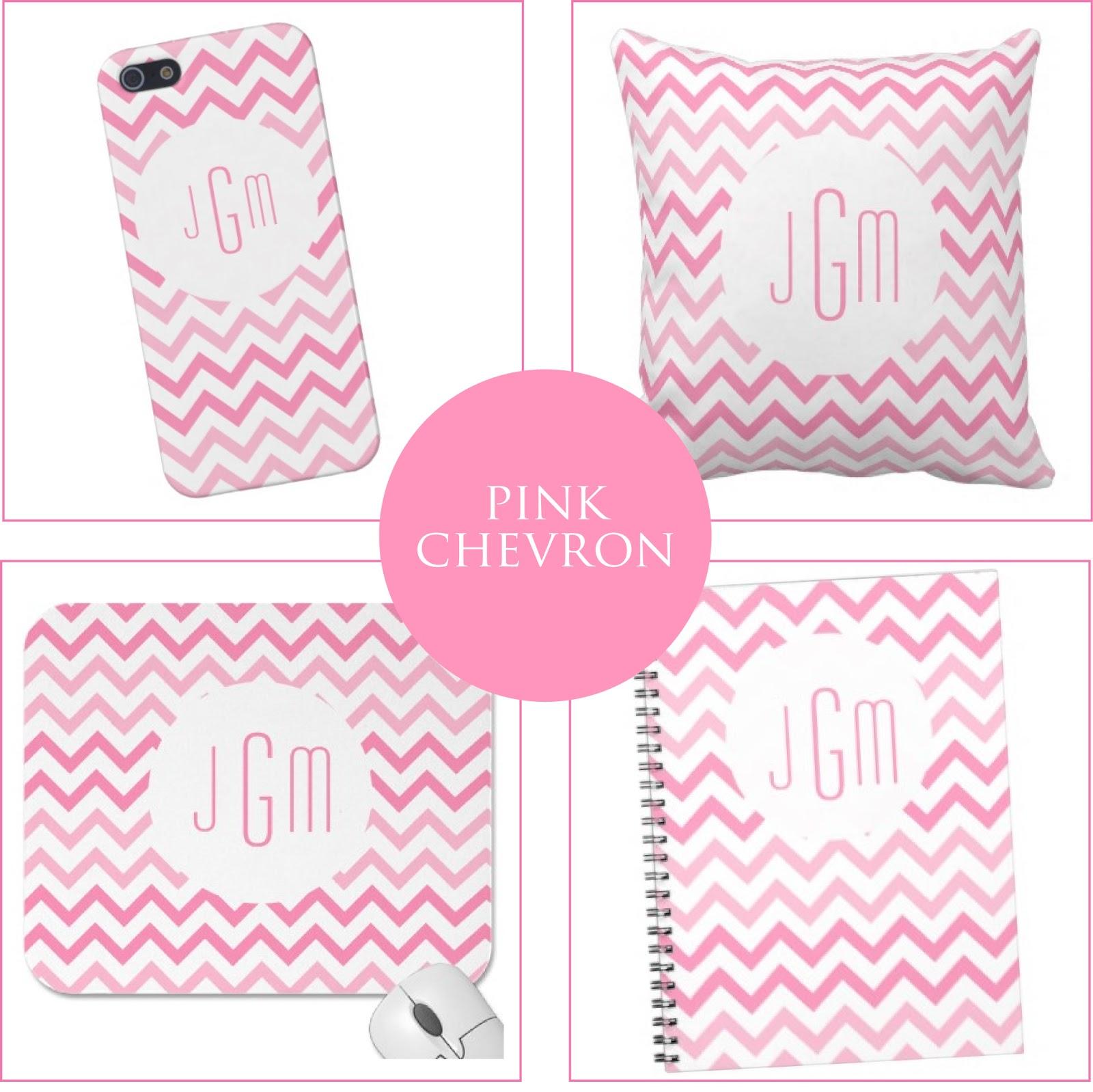 Pink Chevron + Monogram Goodies from Jessica Marie Design