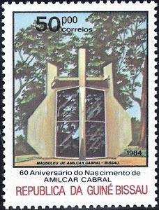 60 Aniversario del nacimiento de Amílcar Cabral, Mausoleo en Bissau, Guinea Bissau, 1984