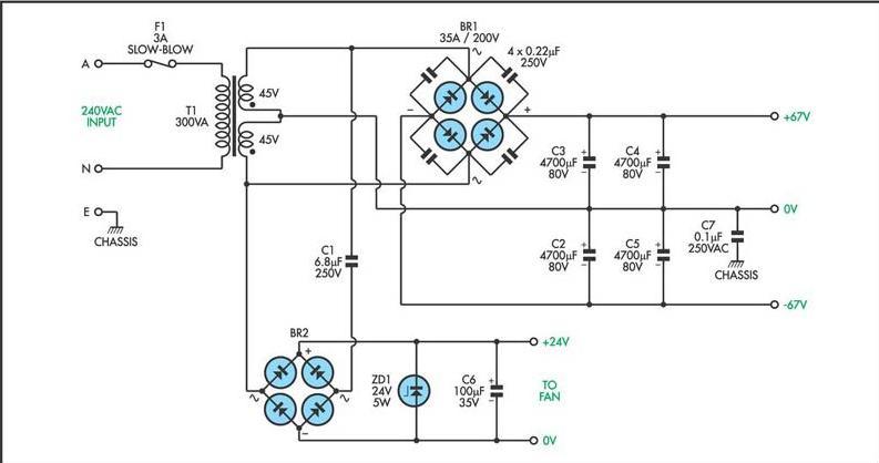 20000 Watt Audio Amplifier Scheme collections