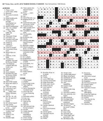 Math Crossword Puzzles May 2013