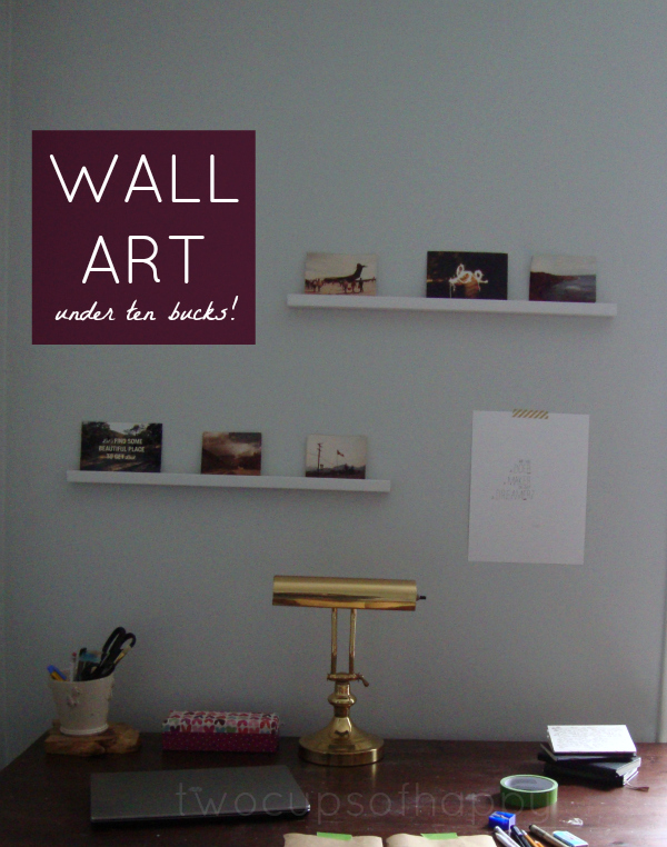 Two Cups Of Happy Wall Art For Cheap Photo Shelves