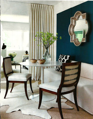 Style inspiration peacock blue to deep teal walls swoon for Peacock blue dining room