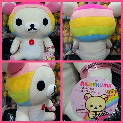 (INSTOCK) Click To See RARE BIG SIZE 50CM HAPPY RAINBOW KORILAKKUMA PLUSH FOR SALE