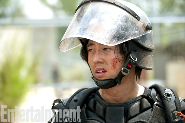 Glenn (Steven Yeun) en The Walking Dead 4x10 Inmates