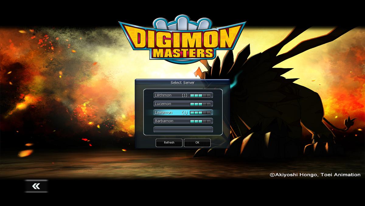 Digimon Masters Online Servers