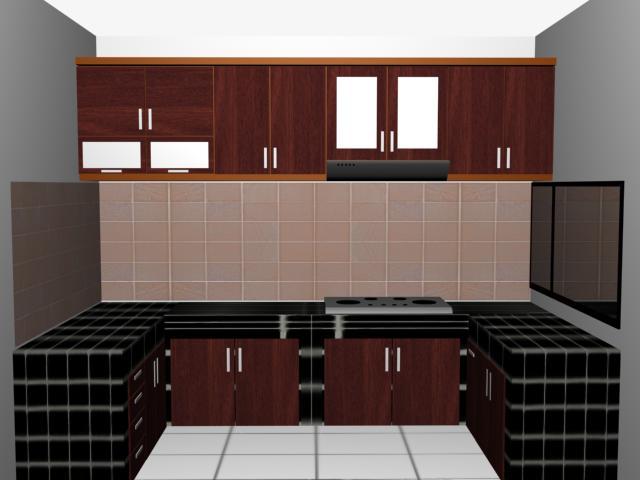 Fugasta Multi Karya Dapur Kitchen Set Bentuk U
