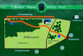 Richard-Wagner-Kulturpfad im Schlosspark Graupa