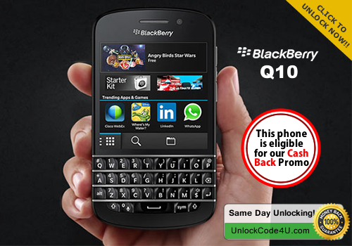 Factory Unlock Code for BlackBerry Q10