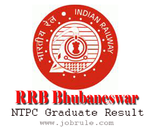 RRB Bhubaneswar NTPC Graduate Category Second Test Written Examination Result | Schedule & Venue of Aptitude Test and Typing Test 2013