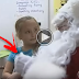 Little Girl Tells Santa What She Wants For Christmas. Now Keep Your Eyes On His Left Hand...