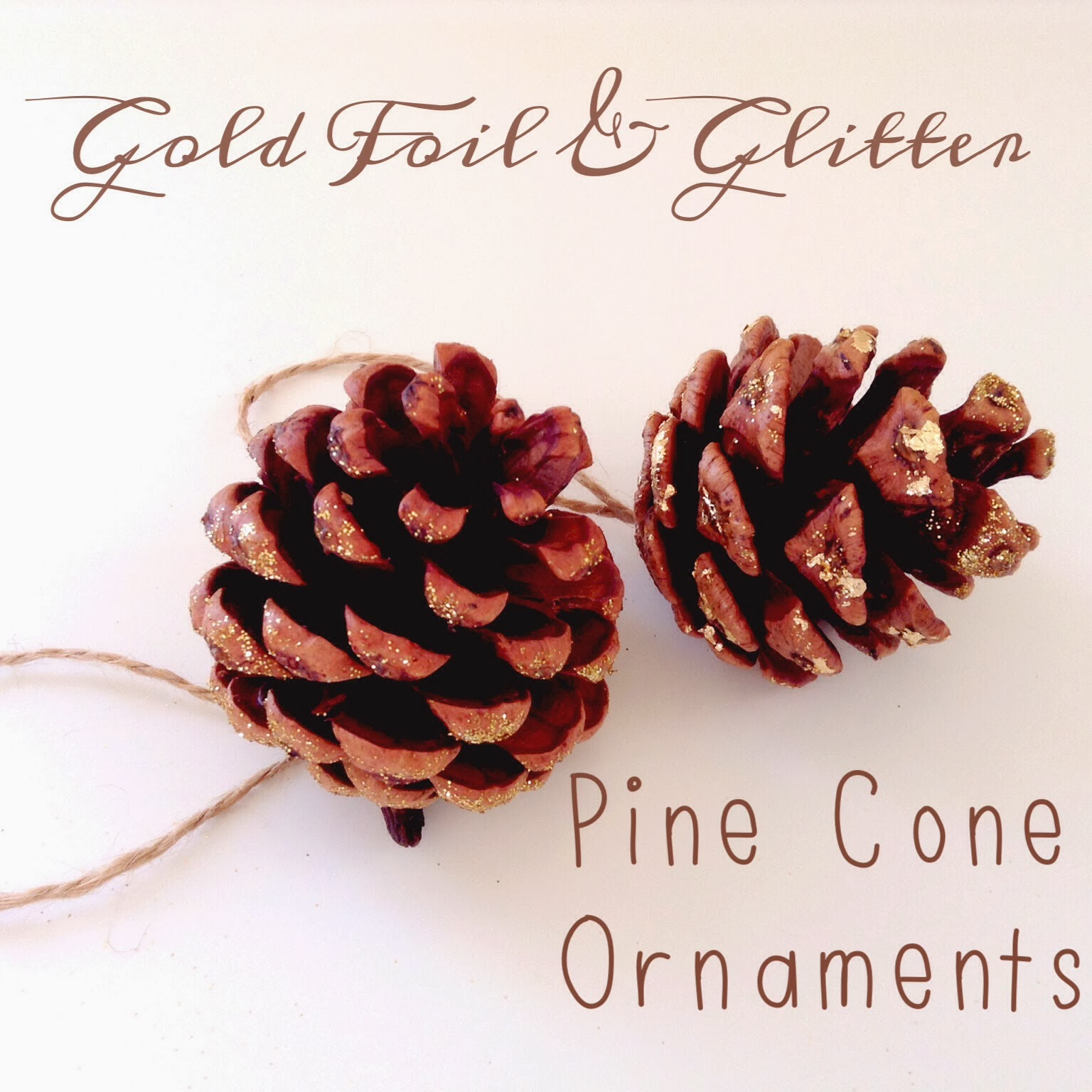 The fancy life diy pine cone ornaments for Pine cone ornaments