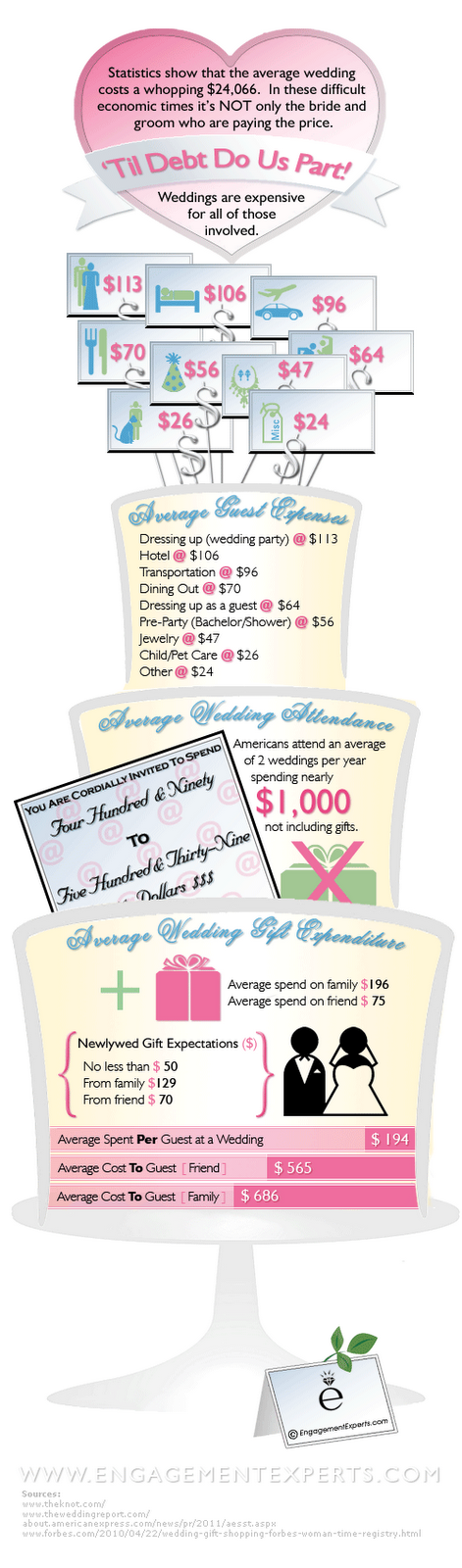 cost to attend wedding infographic