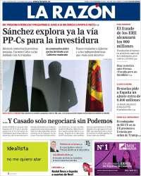 21/11/2019 PRIMERA PÁGINA DE LA RAZÓN DE ESPAÑA