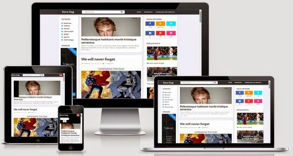 Sora Gag Responsive Blogger Template Free Download