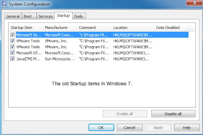 Change Startup Programs by MSCONFIG