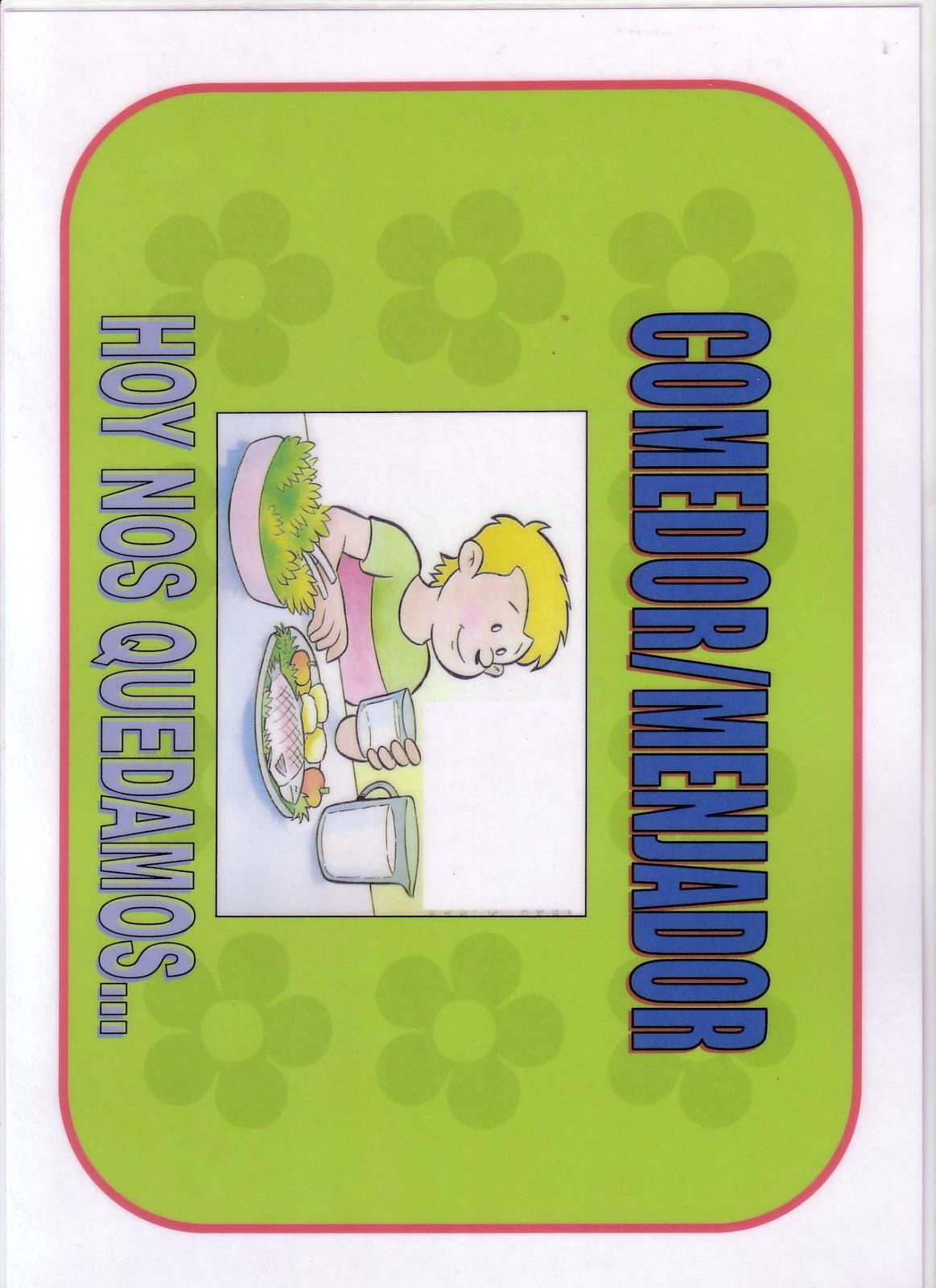El mundo de la educaci n infantil carteles comedor for Cartel comedor infantil