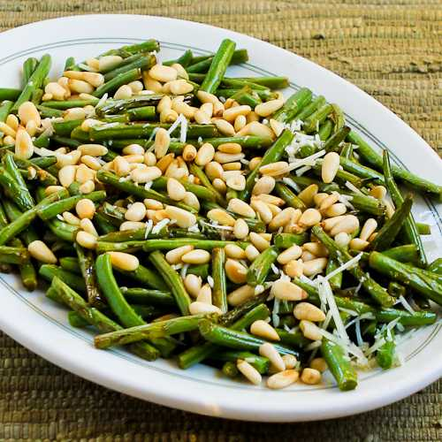 ... green beans stir fried green beans with lemon parmesan and pine nuts