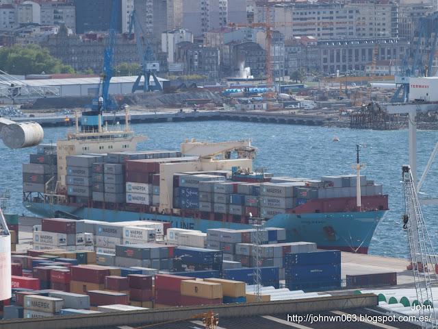 tove maersk, maersk, puerto de Vigo, container ship, fotos de barcos