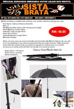Samurai Sword Umbrella RM 49.90
