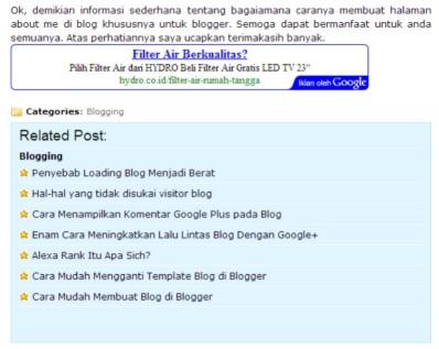 Template Blogspot SEO Friendly